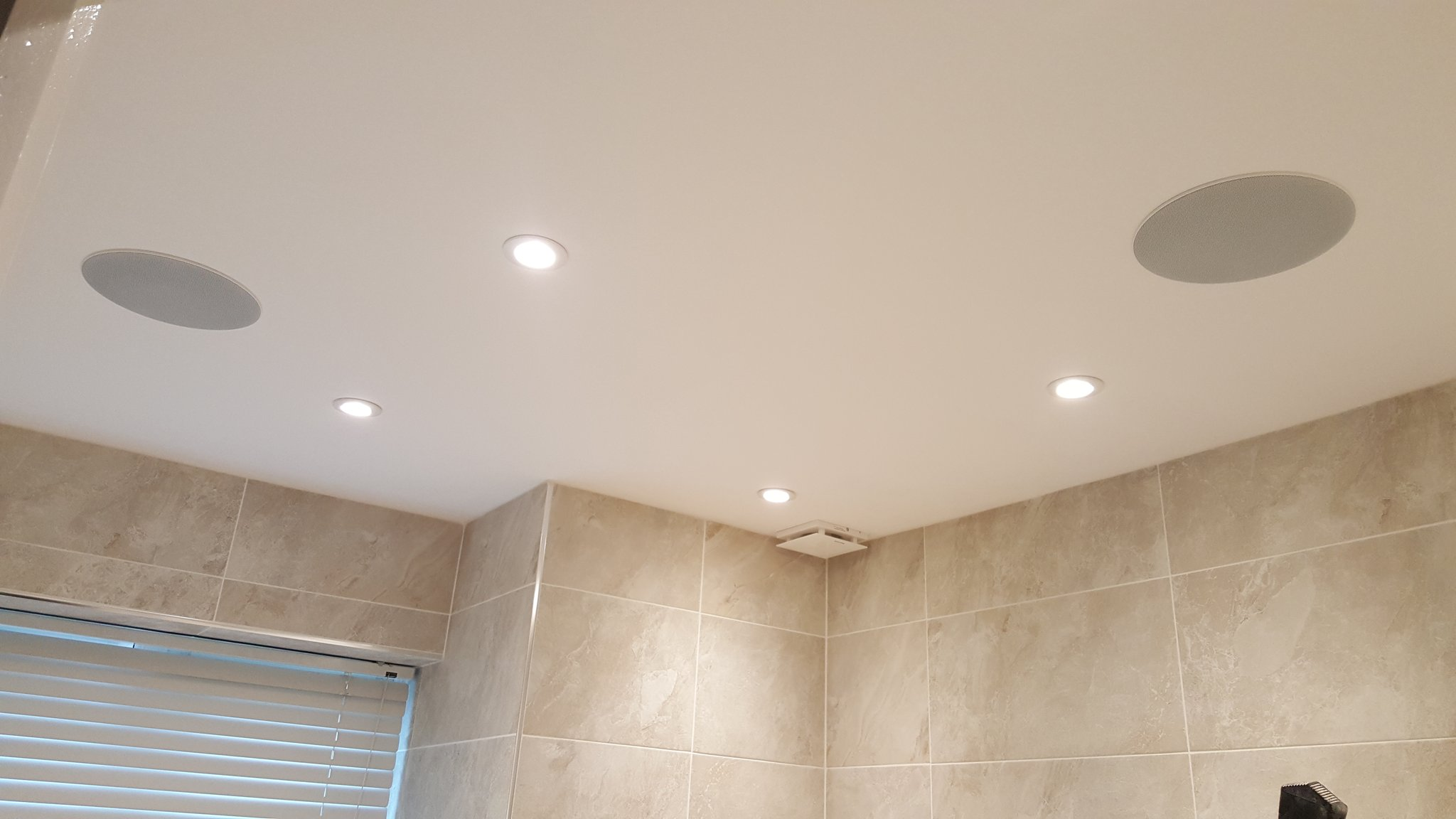 Westpoint Digital bathroom speakers installed
