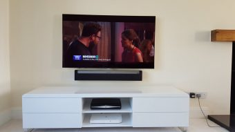 Not a cable in site all hidden in the wall very happy custom…