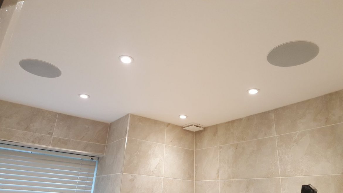 Bathroom speakers installed with @Sonos connect amp #liveins…