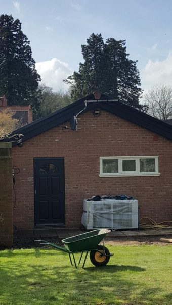 Aerial and satellite dish neatly fitted and out of site of t…