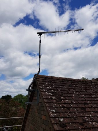 Replacement aerial install, as a tree in the windy weather h…