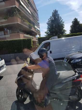 One way of being on the phone while riding on a motorbike!!!…
