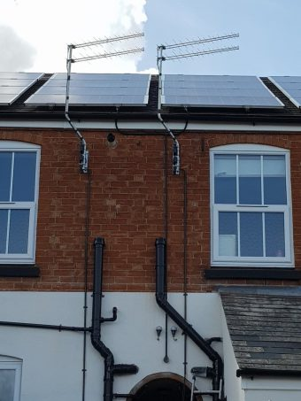 The start of 4 new aerials with cable in conduit as per cust…