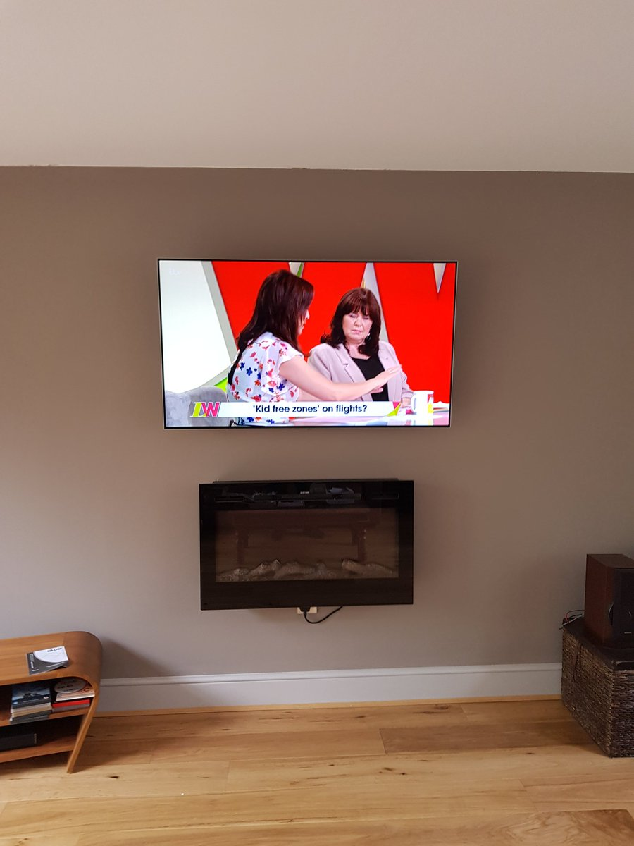 2 x 55″ Tv's with freeview all hidden cables another Happy c…