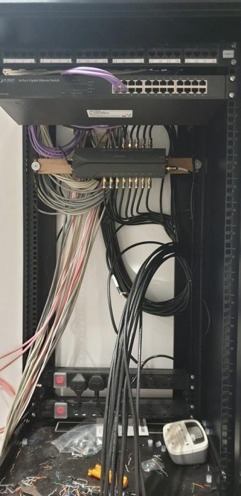 The start of dressing the cabinet ready for satellite, aeria…