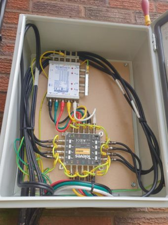 Another external cab and sky Q ready system for a small bloc…