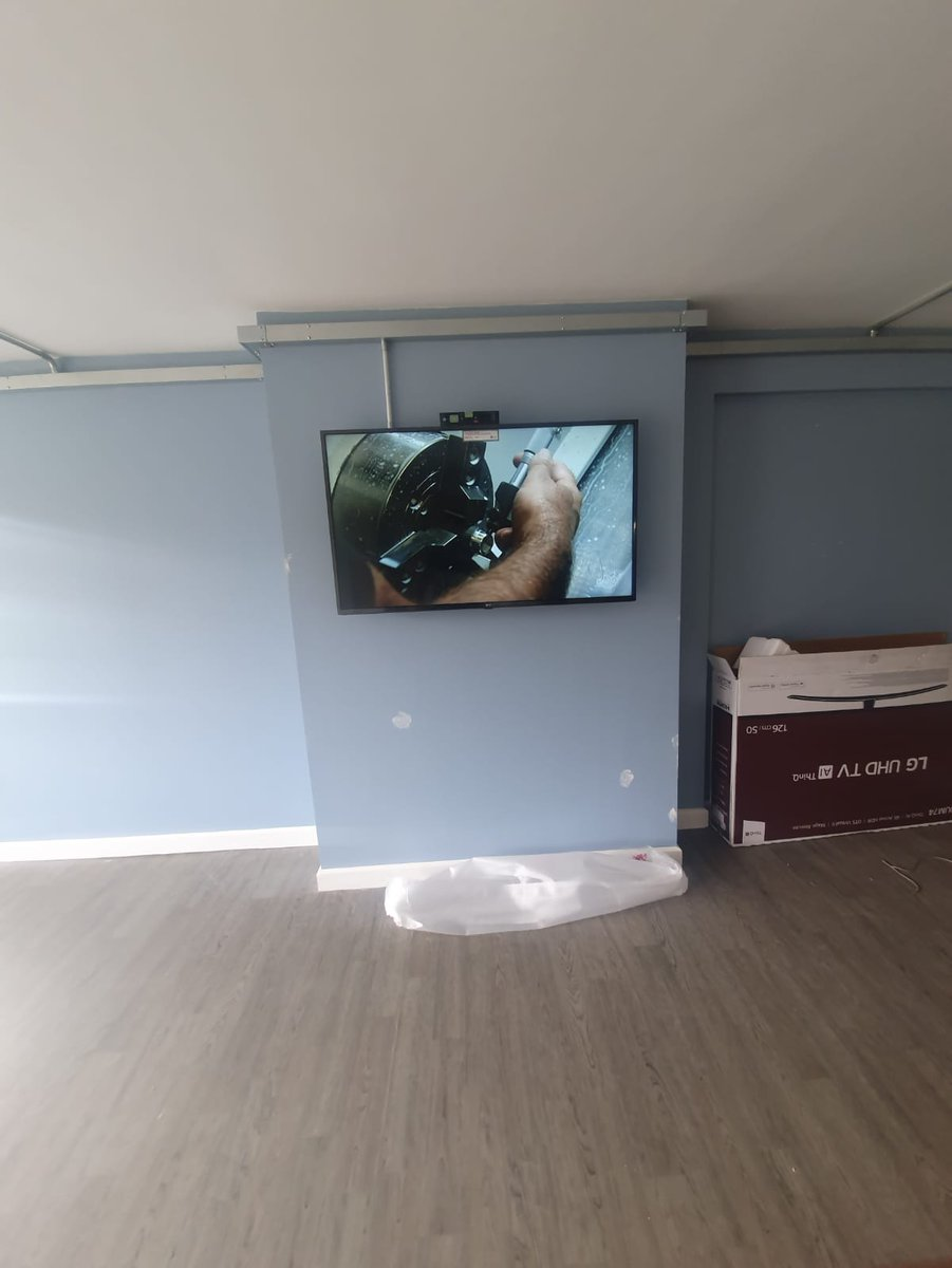 One of our engineers installed a 55″ into a refurbished comm…