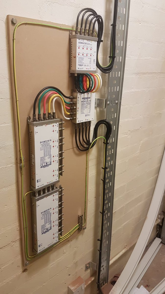 Another system being installed into a block of 62 apartments…